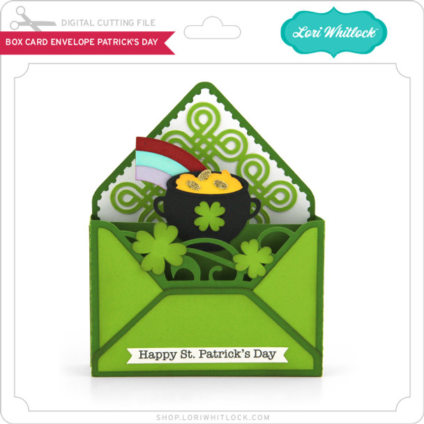 Box Card Envelope St Patrick's Day