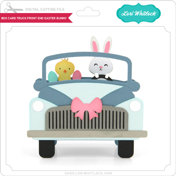 Box Card Truck Front End Easter Bunny
