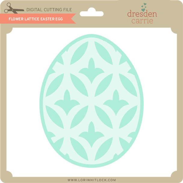Flower Lattice Easter Egg