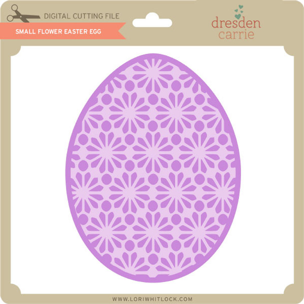 Small Flower Easter Egg