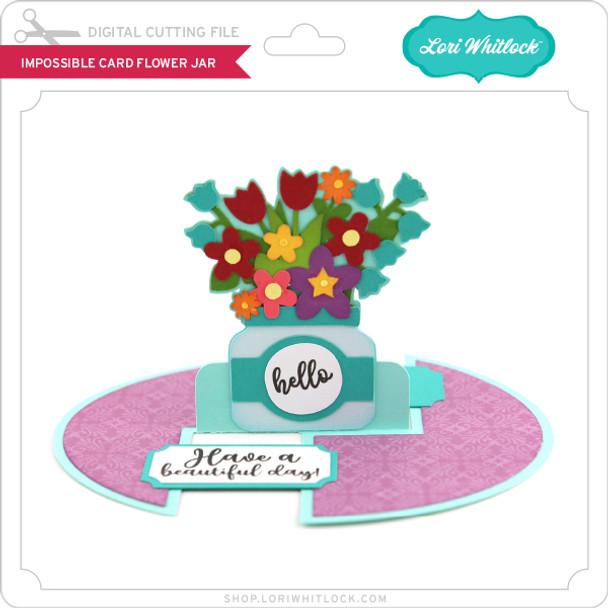 Impossible Card Flower Jar