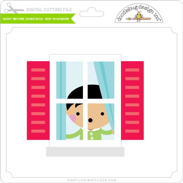 Night Before Christmas - Boy in Window