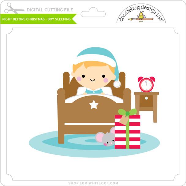 Night Before Christmas - Boy Sleeping