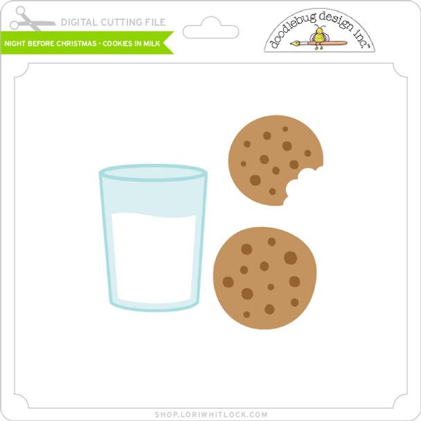 Night Before Christmas - Cookies in Milk