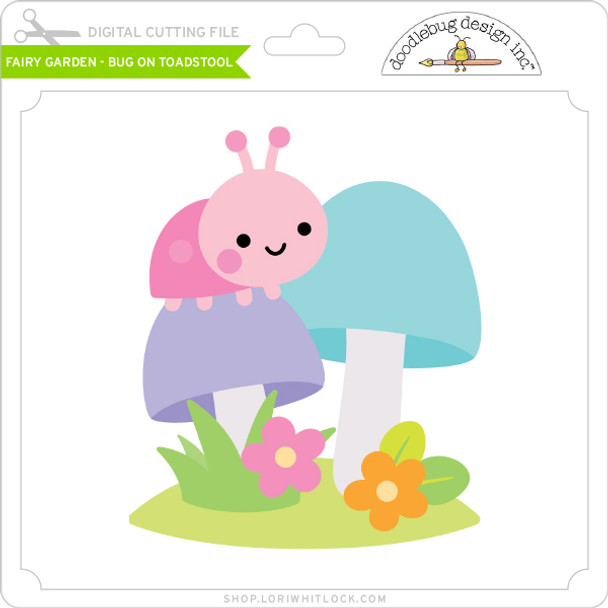 Fairy Garden - Bug on Toadstool