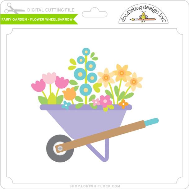 Fairy Garden - Flower Wheelbarrow