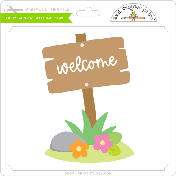 Fairy Garden - Welcome Sign