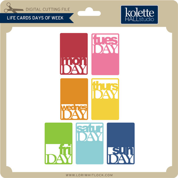 Life Cards Days of Week