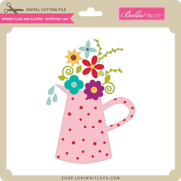 Spring Fling and Easter - Watering Can