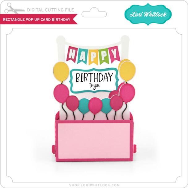 Rectangle Pop Up Card Birthday