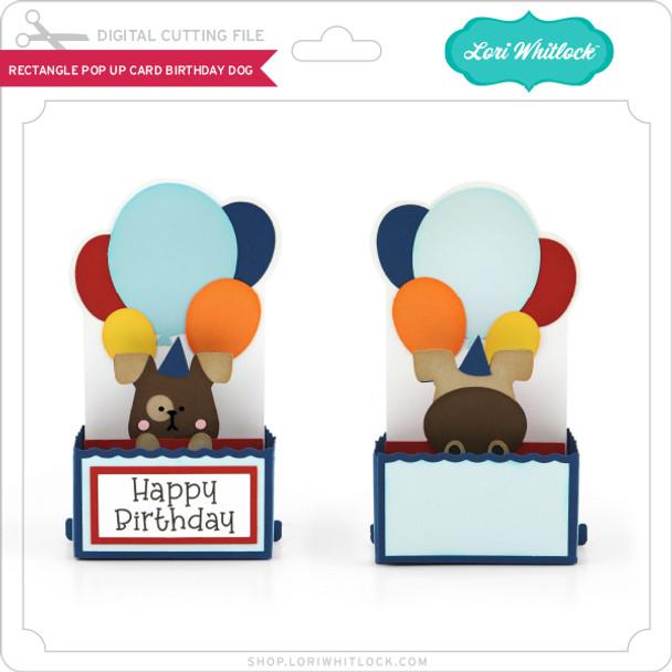 Rectangle Pop Up Card Birthday Dog