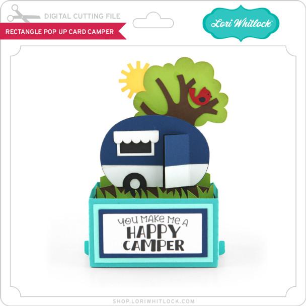Rectangle Pop Up Card Camper