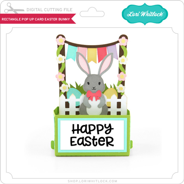 Rectangle Pop Up Card Easter Bunny