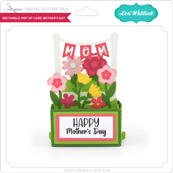 Rectangle Pop Up Card Mother's Day 2