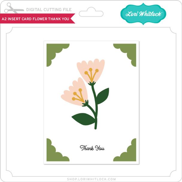 A2 Insert Card Flower Thank You