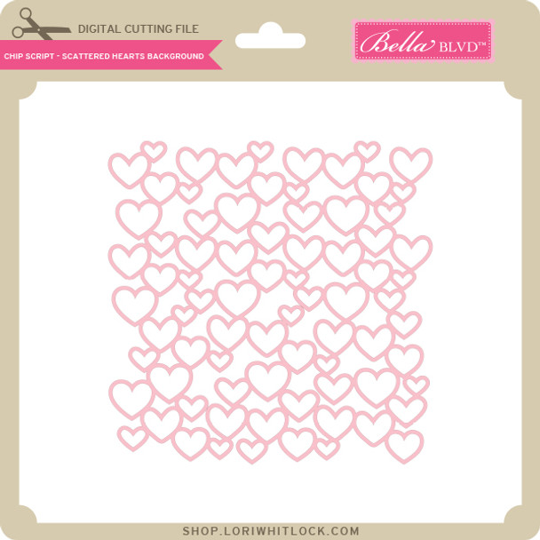 Chip Script - Scattered Hearts Background