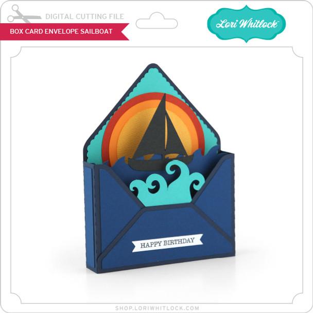 Box Card Envelope Sailboat