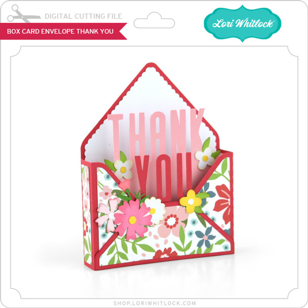 Box Card Envelope Thank You