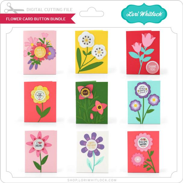 Flower Card Button Bundle