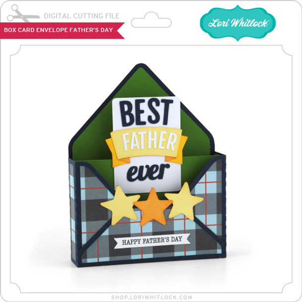 Box Card Envelope Father's Day