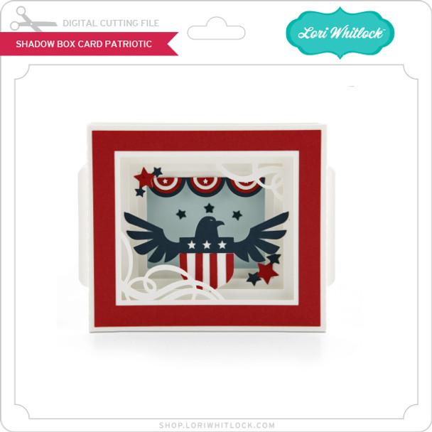 Shadow Box Card Patriotic