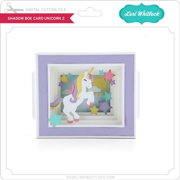 Shadow Box Card Unicorn 2