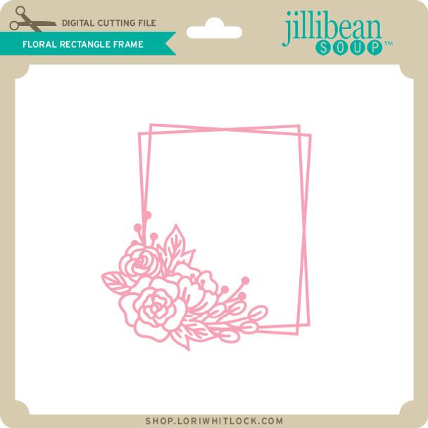 Floral Rectangle Frame
