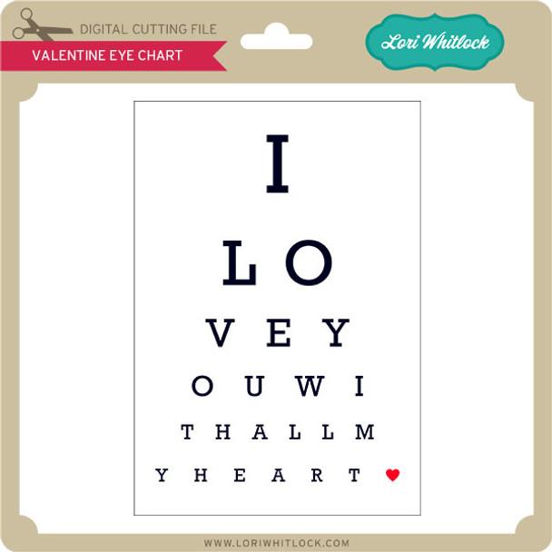 Valentine Eye Chart