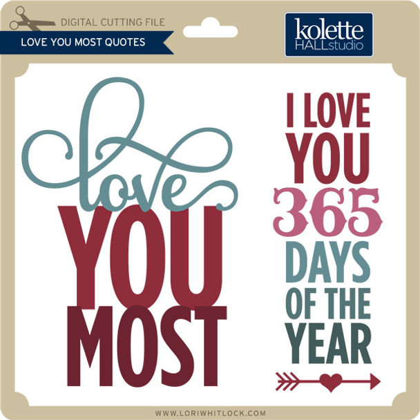 Love You Most Quotes