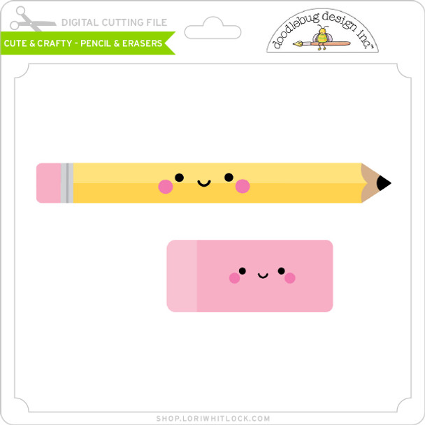 Cute & Crafty - Pencil & Erasers