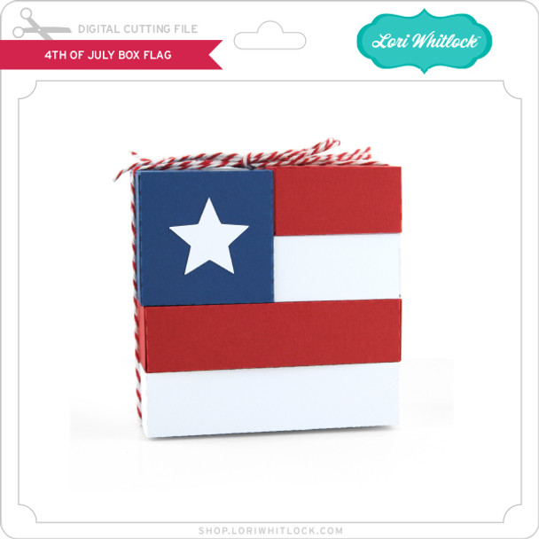 4th Of July Block Flag