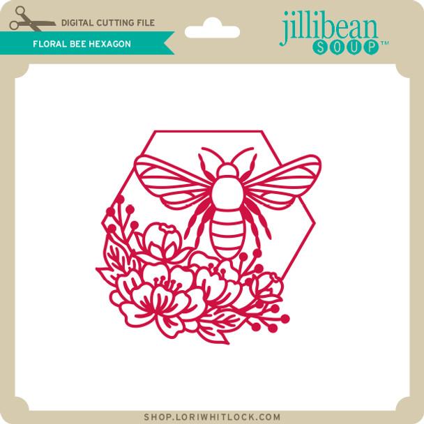 Floral Bee Hexagon