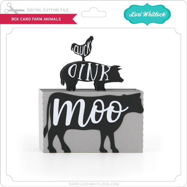 Box Card Farm Animals