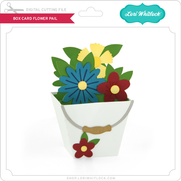 Box Card Flower Pail
