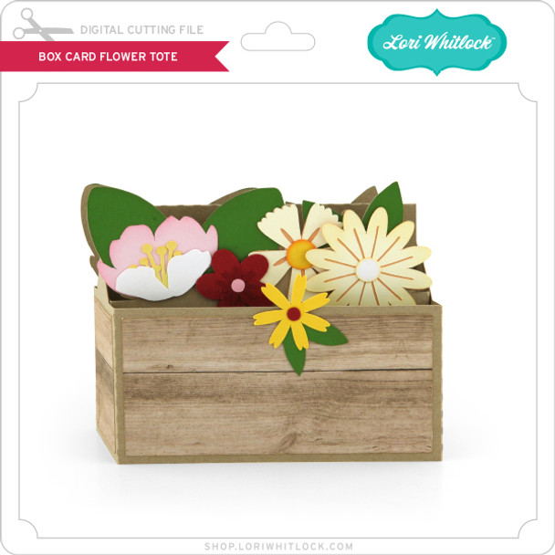 Box Card Flower Tote