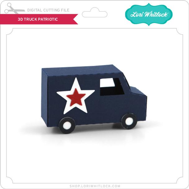 3D Truck Patriotic