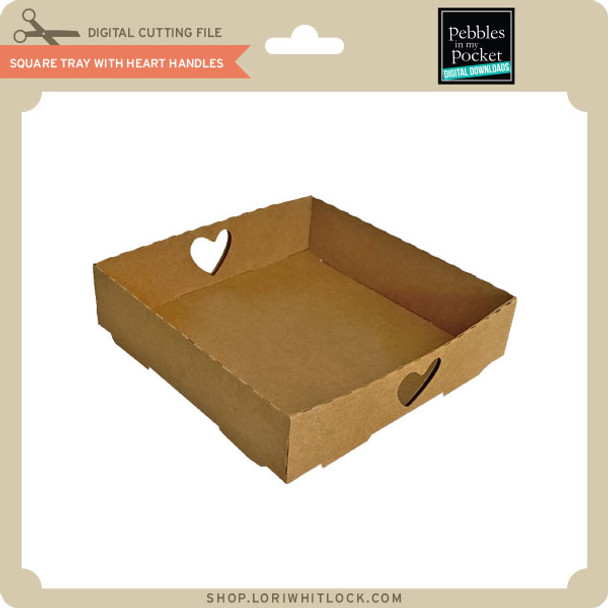 Square Tray With Heart Handles