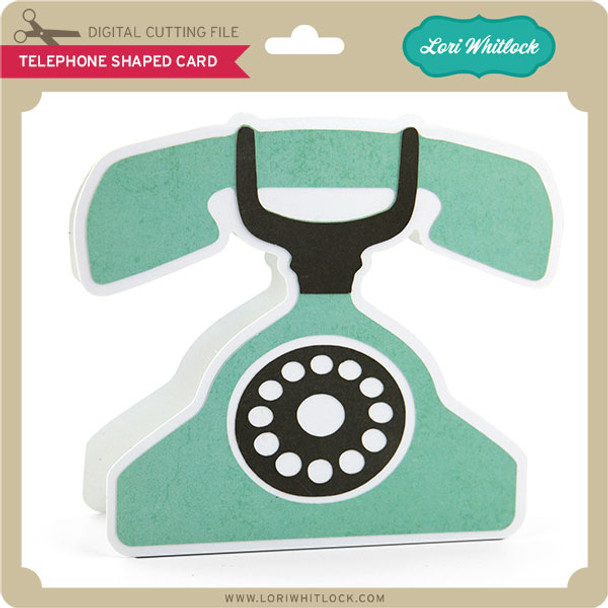 Telephone Shaped Card