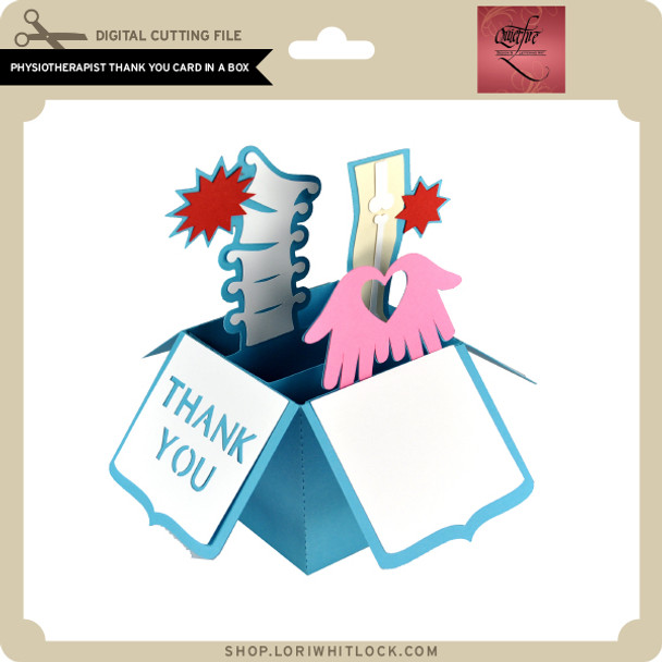 Physiotherapist Thank You Card in a Box