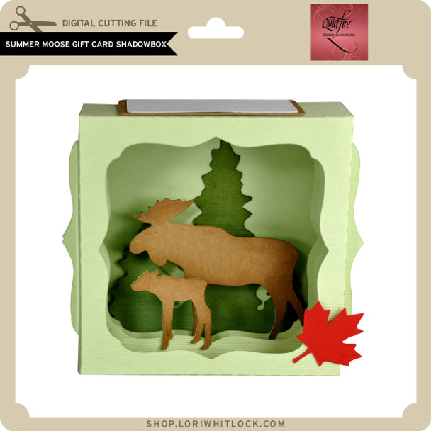 Summer Moose Gift Card Shadowbox