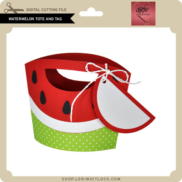 Watermelon Tote and Tag