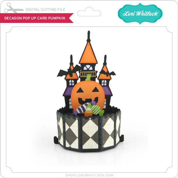 Decagon Pop Up Card Pumpkin