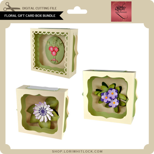 Floral Gift Card Box Bundle
