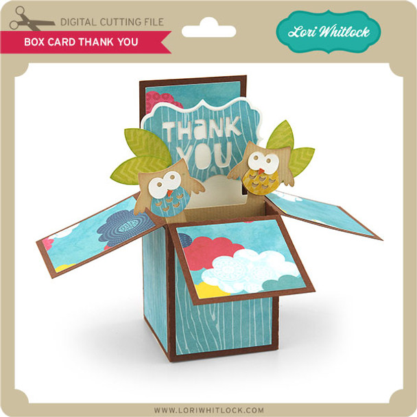 Box Card Thank You
