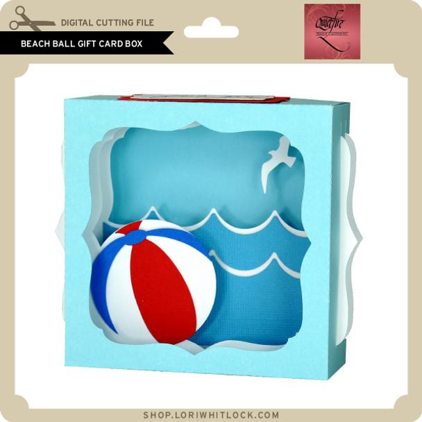 Beach Ball Gift Card Box