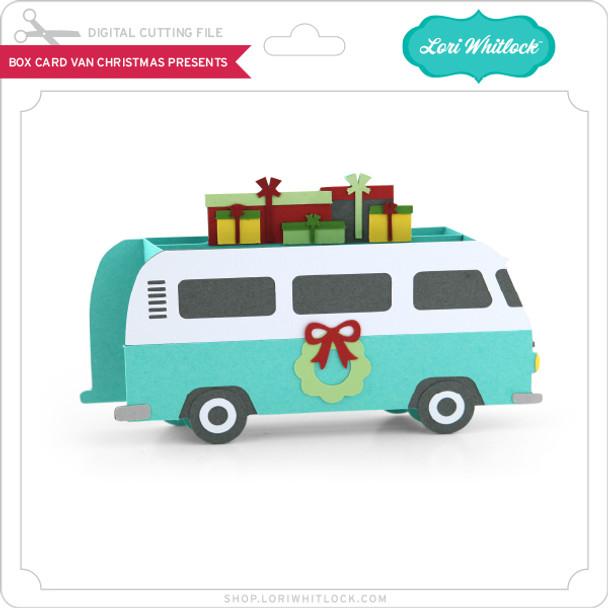 Box Card Van Christmas Presents