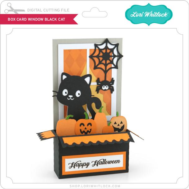 Box Card Window Black Cat