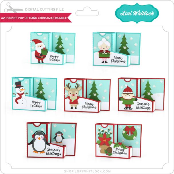 A2 Pocket Pop Up Card Christmas Bundle