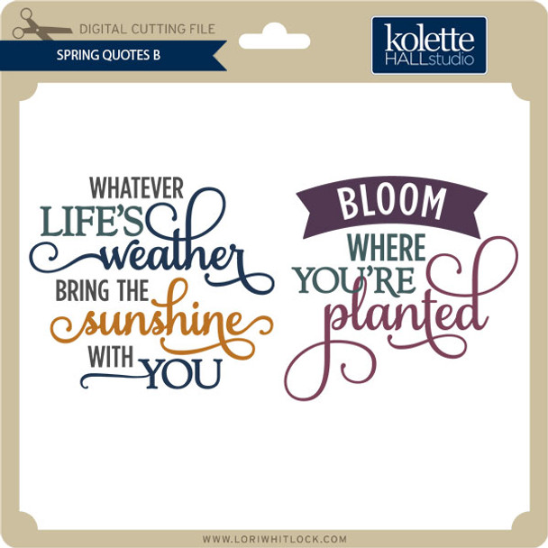 Spring Quotes B
