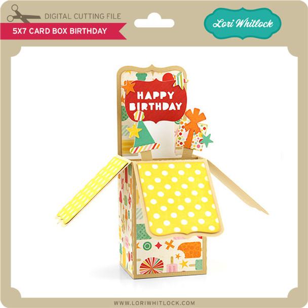 5x7 Box Card Birthday
